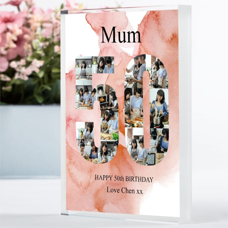 50 Birthday Photo block Collage