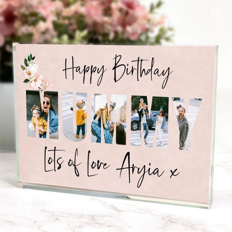 Mummy photo block collage - Happy Birthday