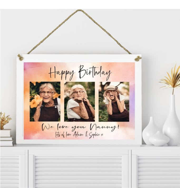 Birthday Hanging Wall Sign Collage