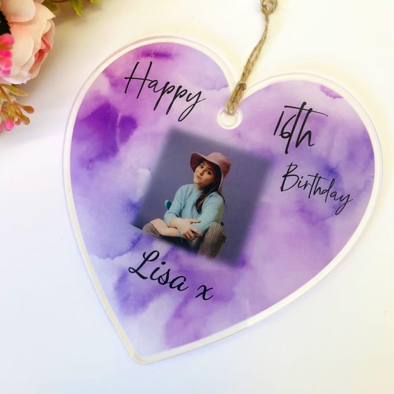 16th Birthday Hanging Heart