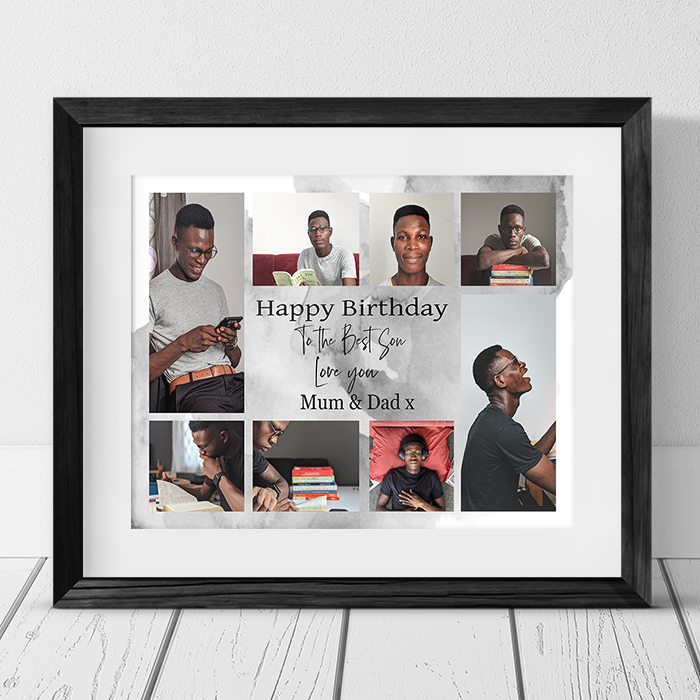 Son Birthday Collage Personalised Frame