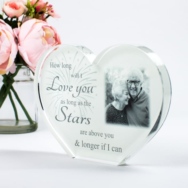 Personalised Acrylic Heart Photo Block : How long