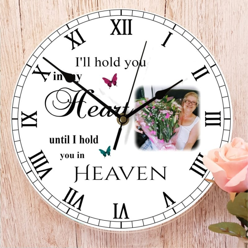 Personalised clock - Remembrance
