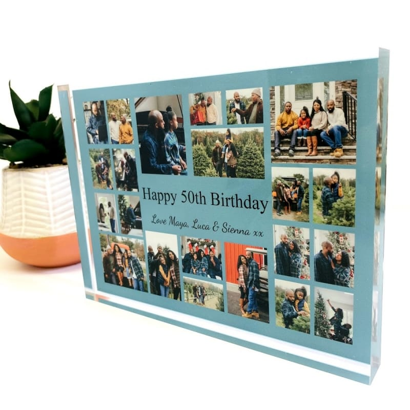 22 Photo Block Collage 50th Birthday