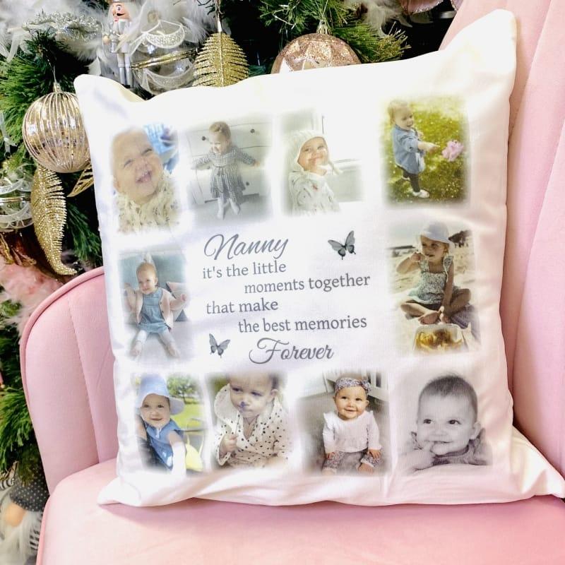 Personalised photo cushion, the little moments