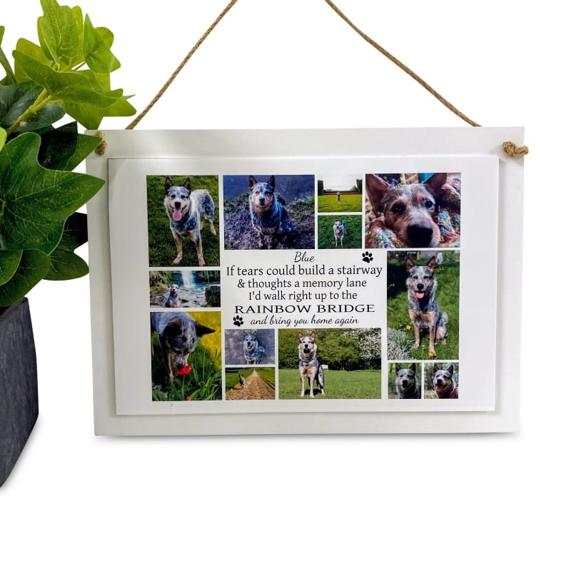Personalised Deluxe Wall Sign Remembrance Keepsake