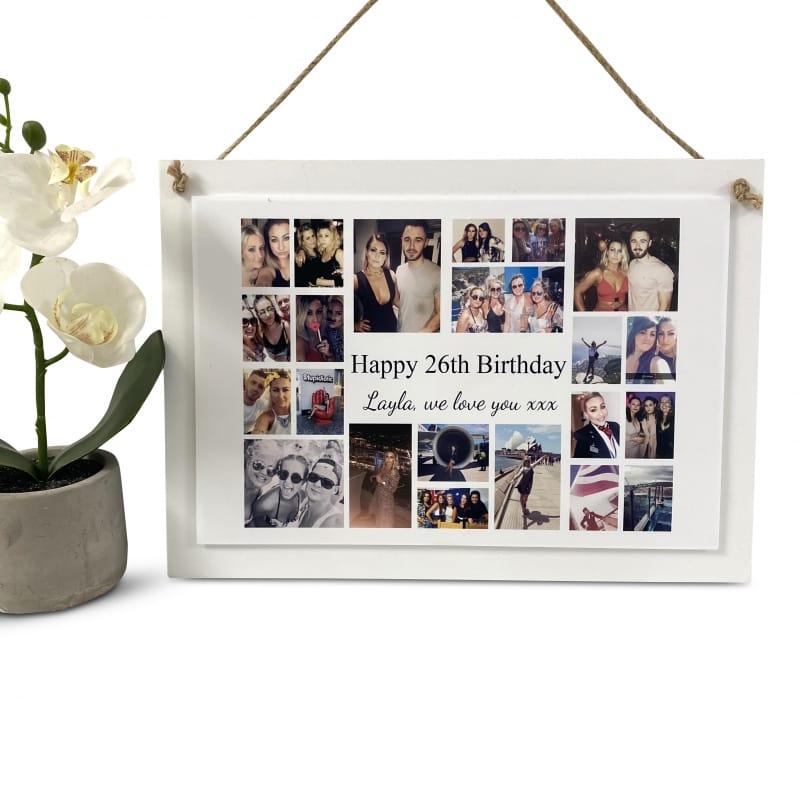 Personalised Deluxe Wall Sign Birthday Keepsake