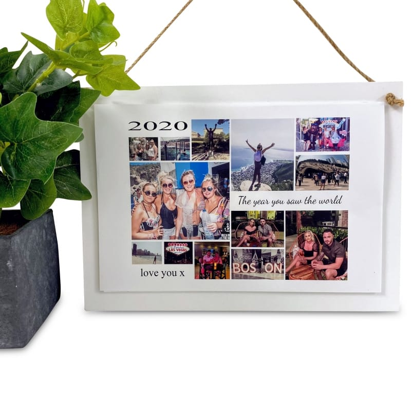 Personalised Deluxe Wall Sign Holiday Keepsake