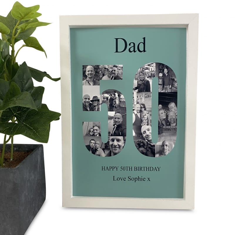 Personalised Deluxe Wall Frame 50th Birthday Keepsake