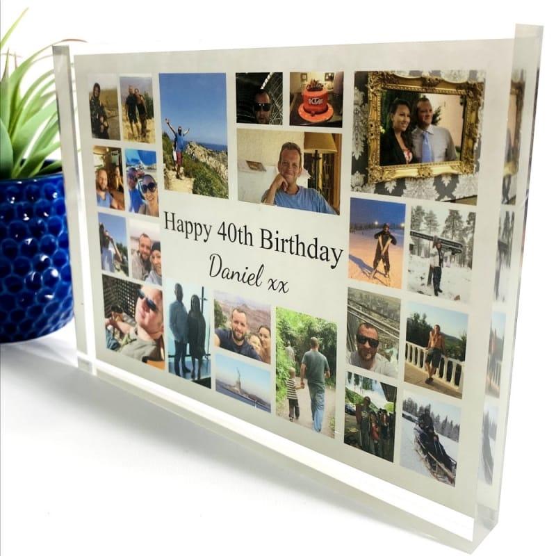 22 Photo Block Collage 40th Birthday
