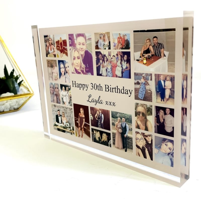 22 Photo Block Collage 30th Birthday