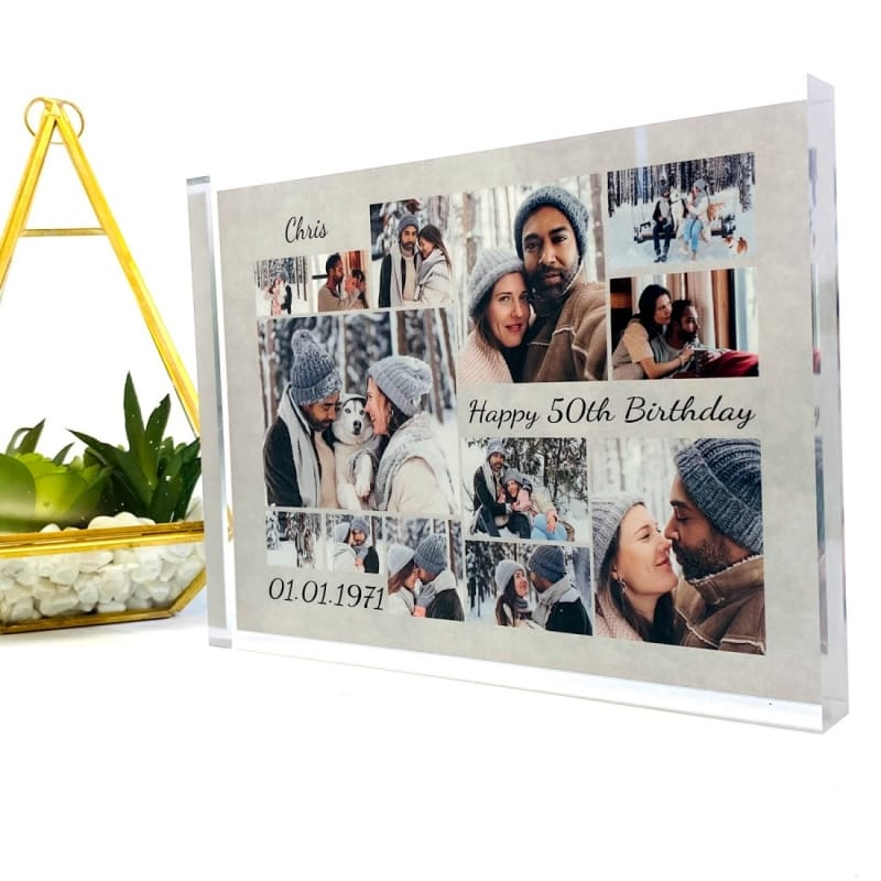 Age 50 Photo Block Collage - Birthday