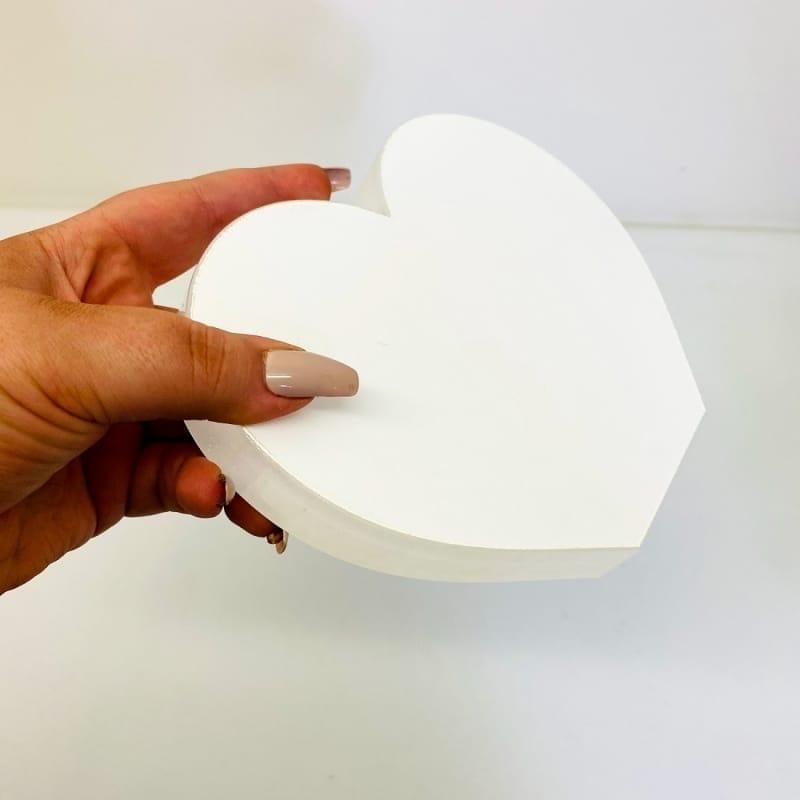 Personalised Acrylic Heart Photo Block - 70th