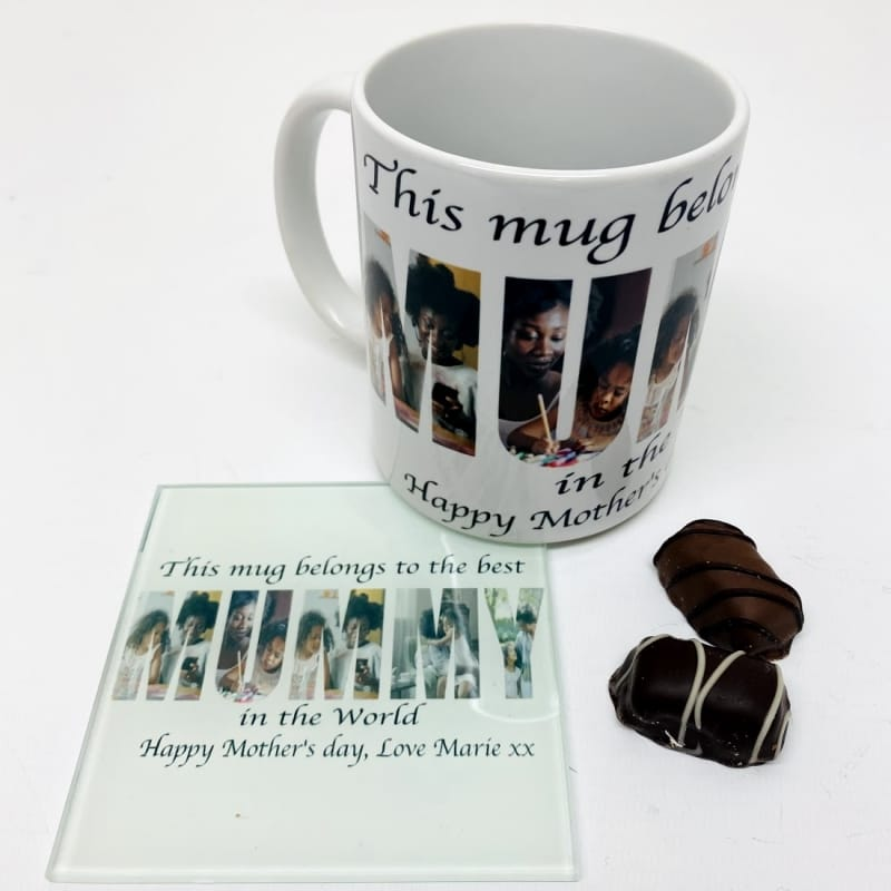 Mummy Photo Letters Mug  Mother's day