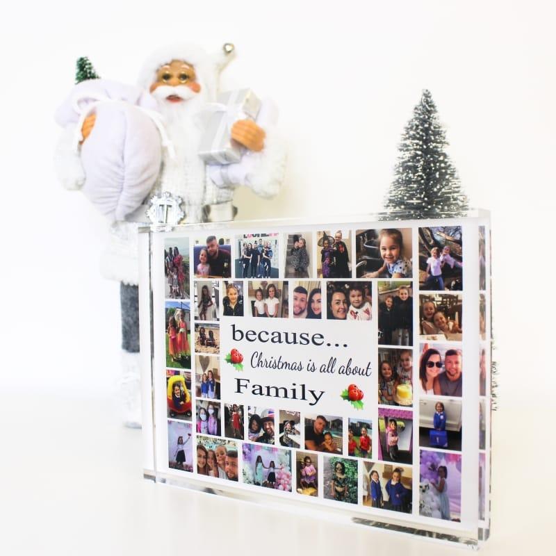 35 Photo Block Family Christmas