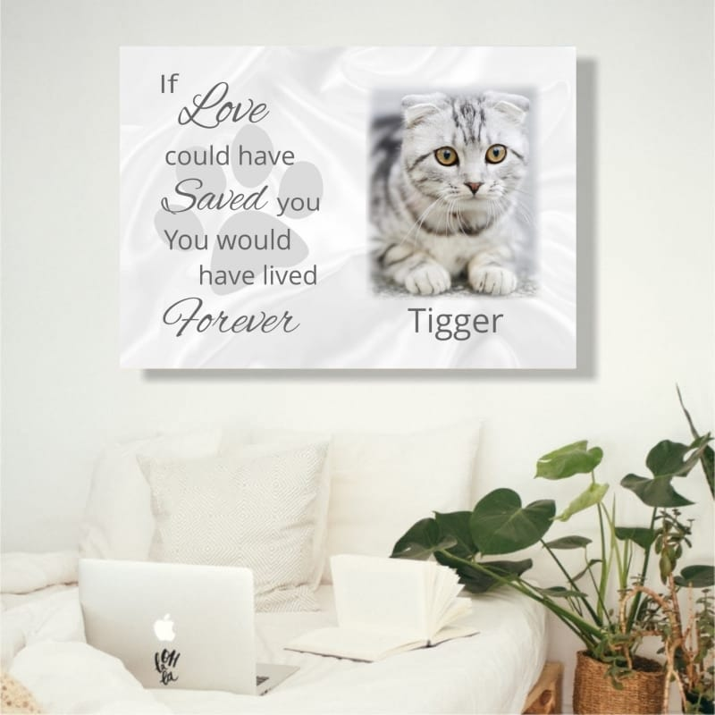 Pet Remembrance Canvas If love could have saved you