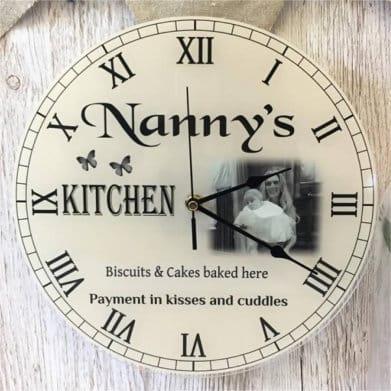 Personalised clock - grandparents