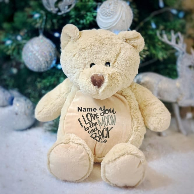 Love You To The Moon And Back Personalised Teddy