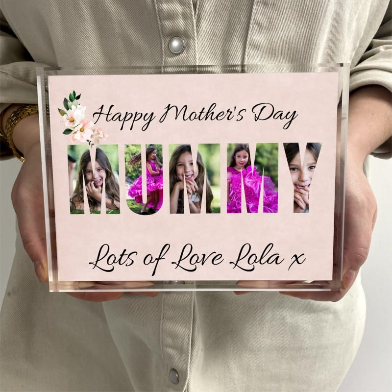 Mummy photo block collage - Happy Mother's day