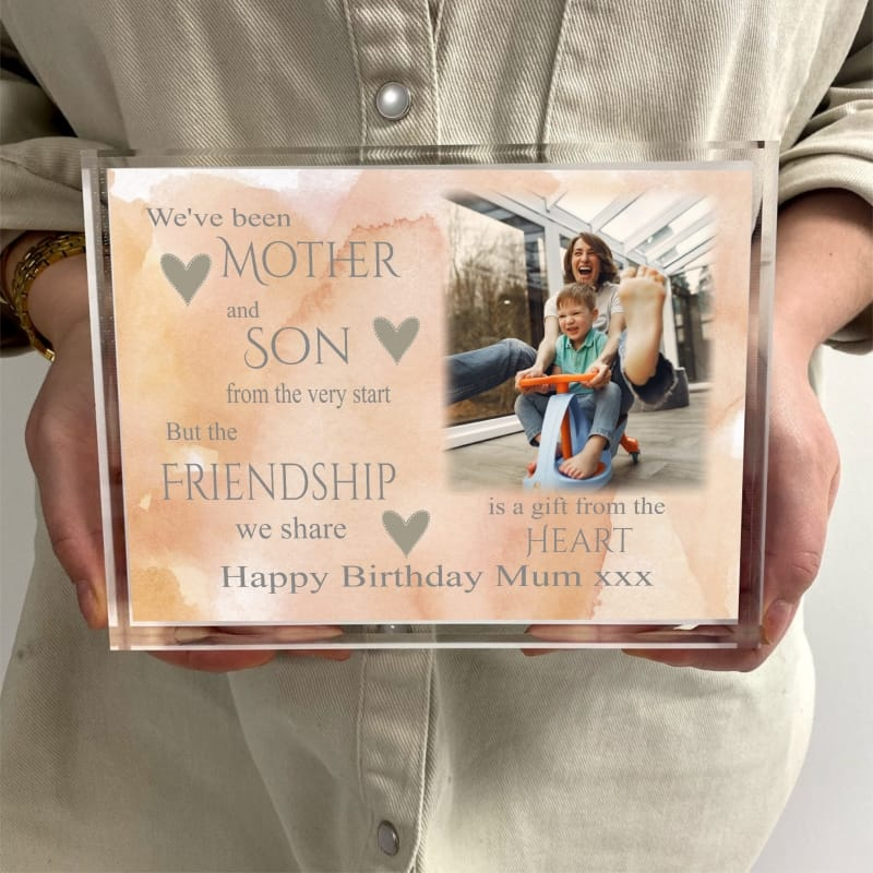 Mother and Son Birthday Block