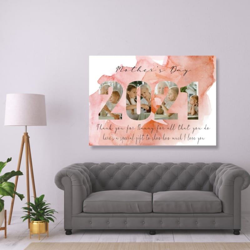 2021 Mother's Day for Nanny Photo Canvas