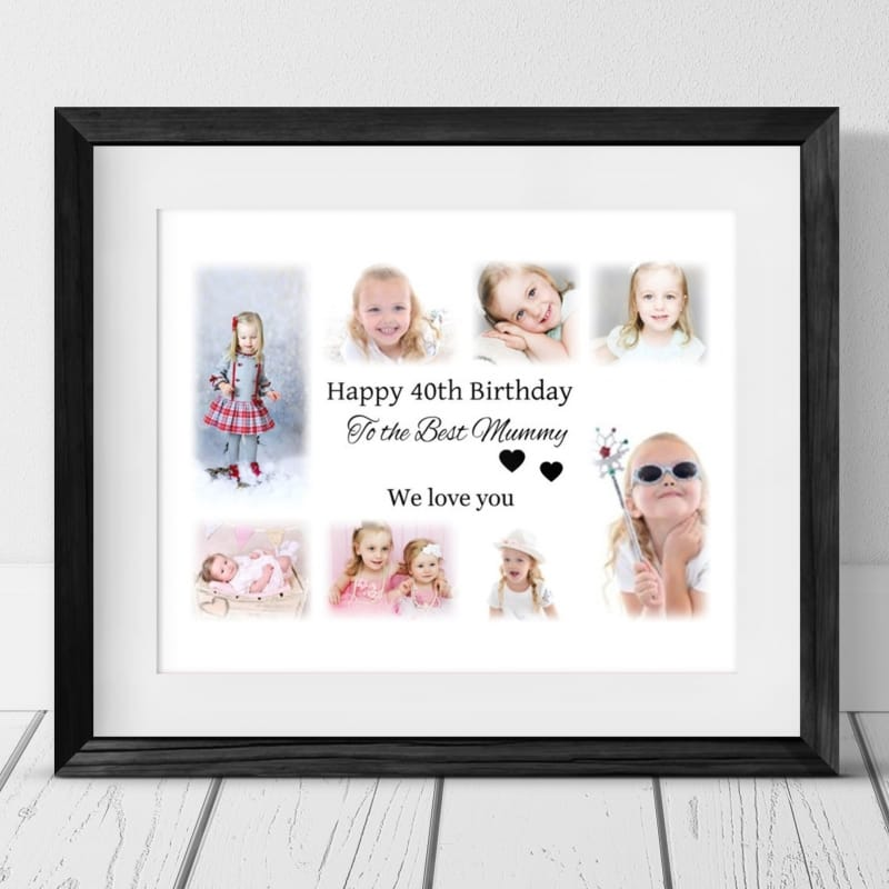 Birthday Collage Personalised Frame