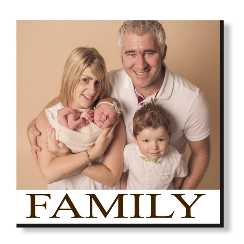 Pic N Mix Photo tiles - Family, text is editable