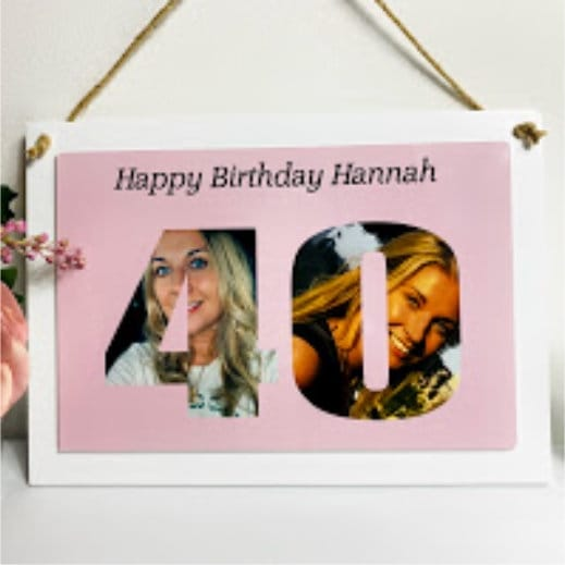 Personalised Deluxe Wall Signs - 40 Birthday