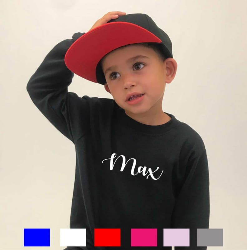 Personalised embroidery name long sleeved T-shirt