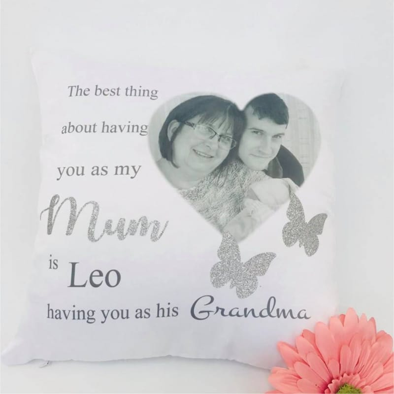 Personalised glitter cushion The best thing ..