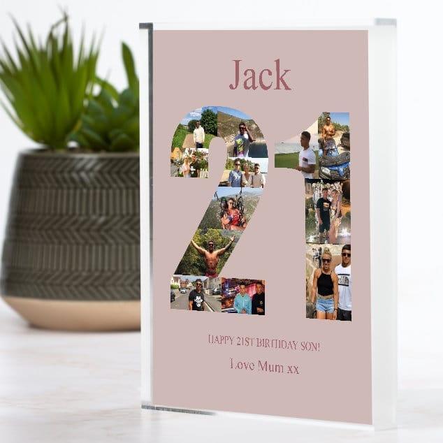 21 Birthday Photo block Collage