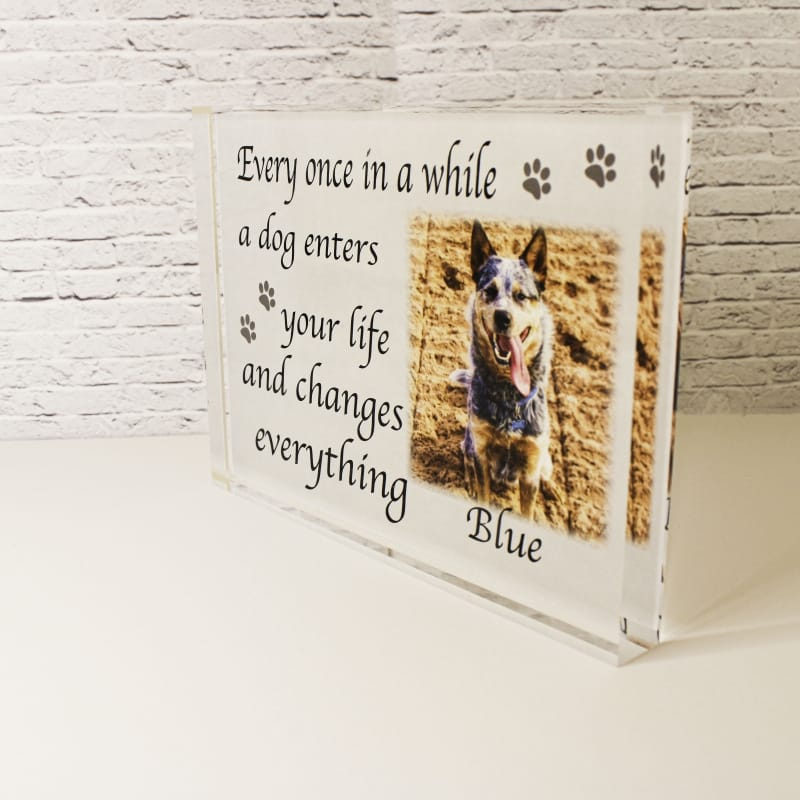 Personalised dog acrylic block