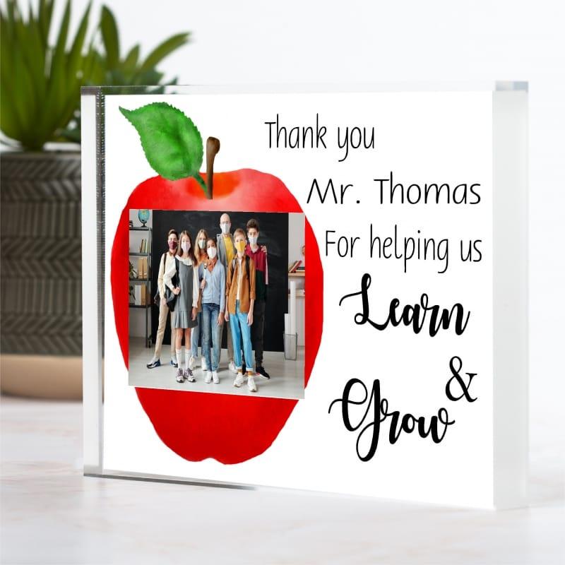 Personalised Learn & Grow Teacher Photo Block
