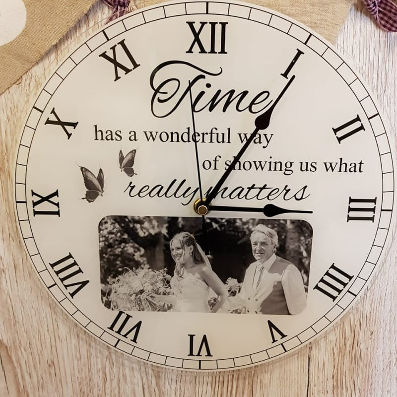 Personalised clock - Time has a ...