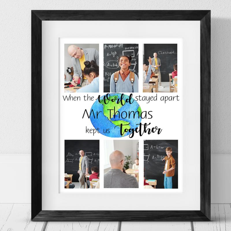6 Photo Personalised Teacher Gift