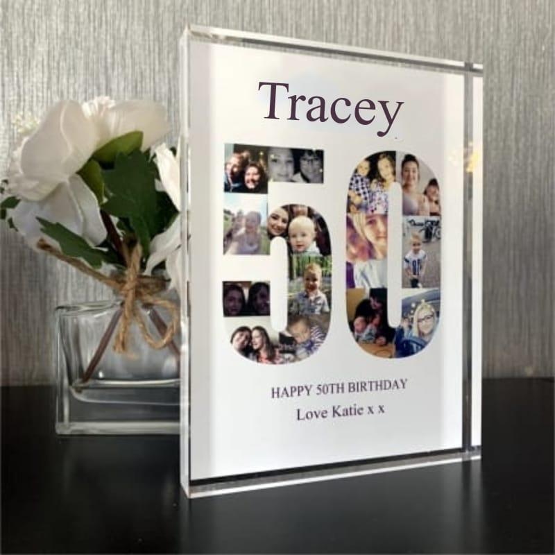 50 Birthday Photo block Collage