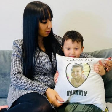 "I love my ""ADD ANY TEXT"" Mummy Cushion"