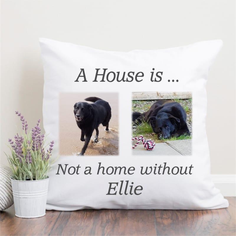 Personalised pet 2 photo cushion