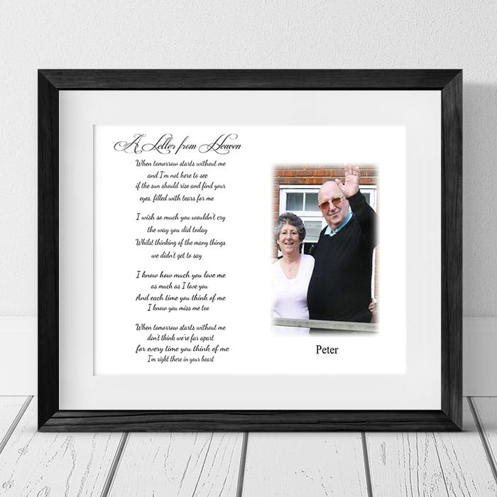 Personalised Remembrance Keepsake - A letter from Heaven