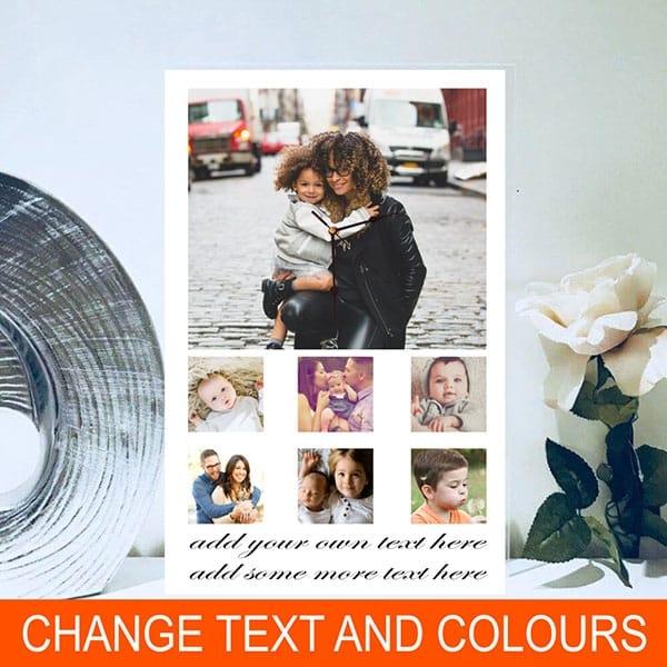 Add your own text, rectangular photo clock