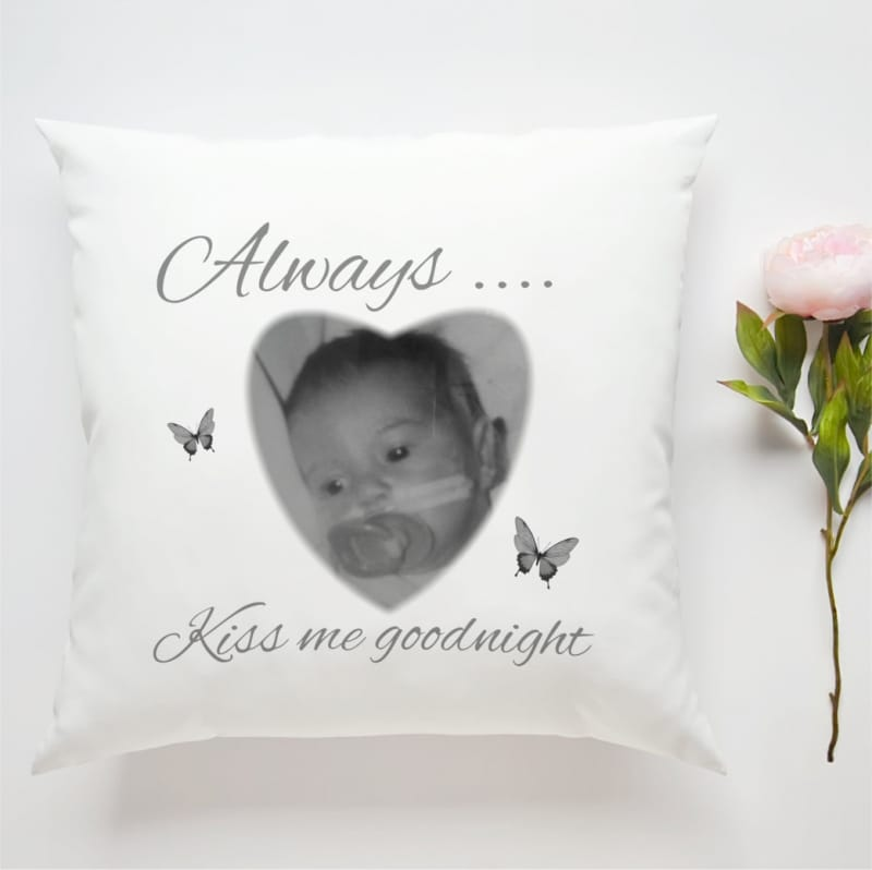 Personalised Cushion - Always Kiss Me Goodnight