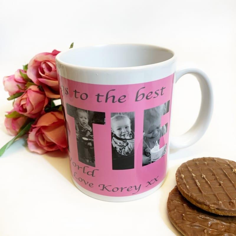 Auntie Photo Letters Mug