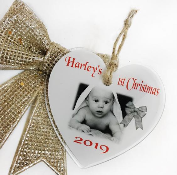 Baby's 1st Christmas heart