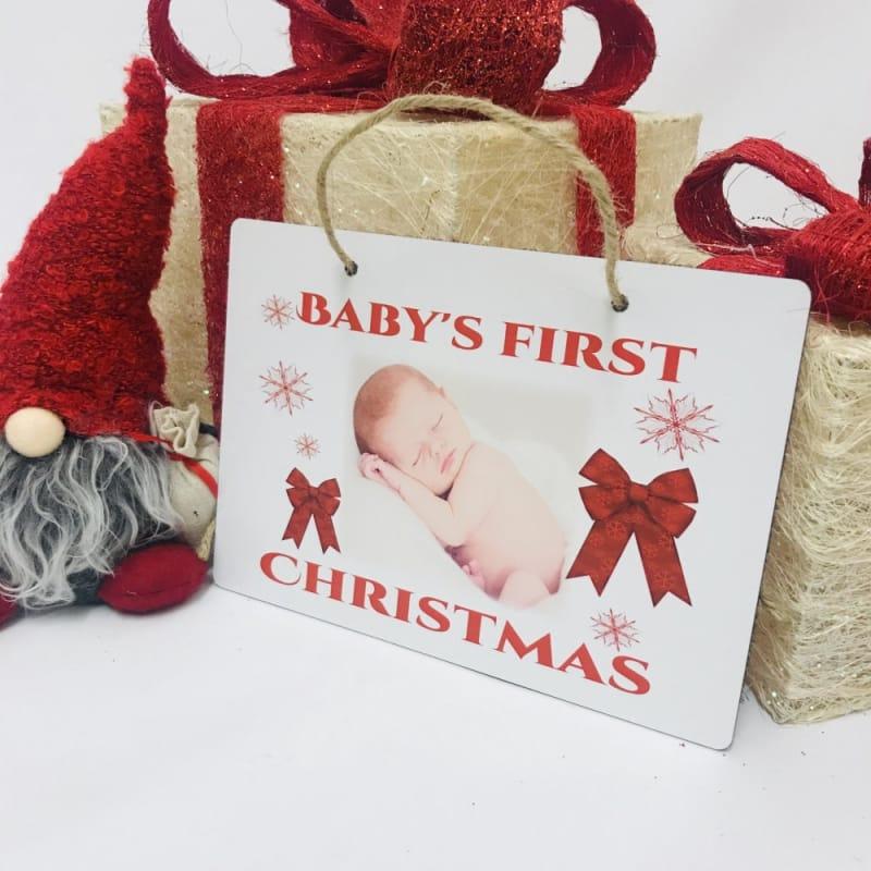 Christmas Sign - Baby's 1st Christmas
