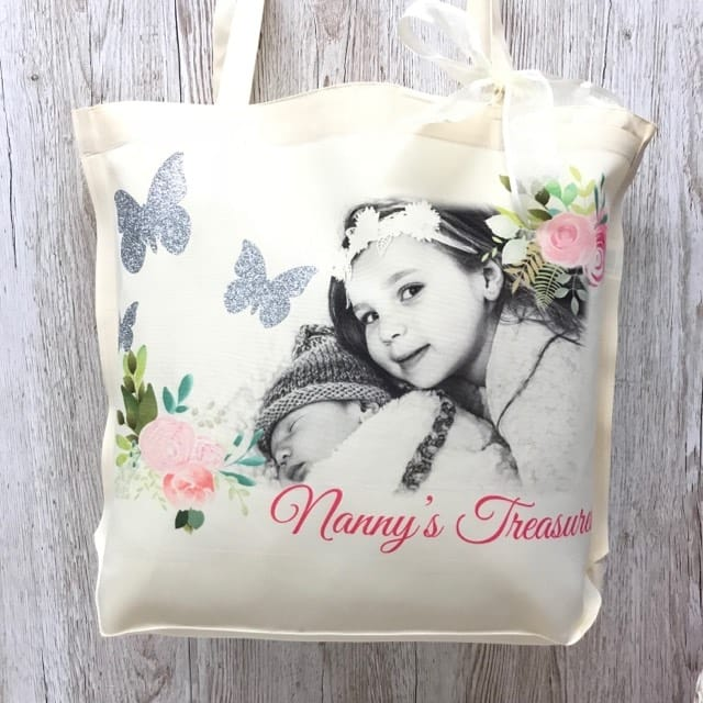 Large personalised Glitter detail bag