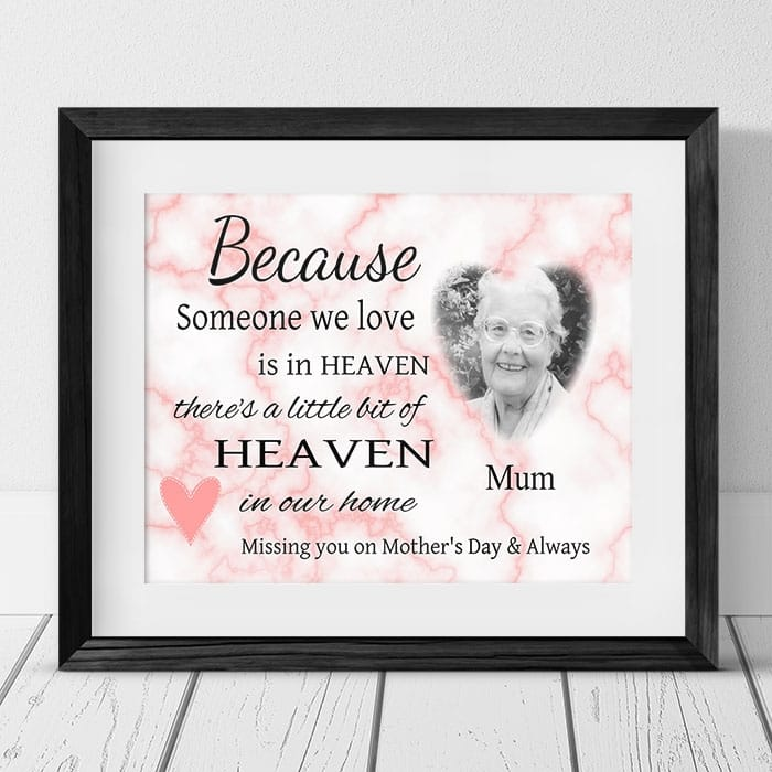 Personalised photo Remembrance Gift - Mother's day