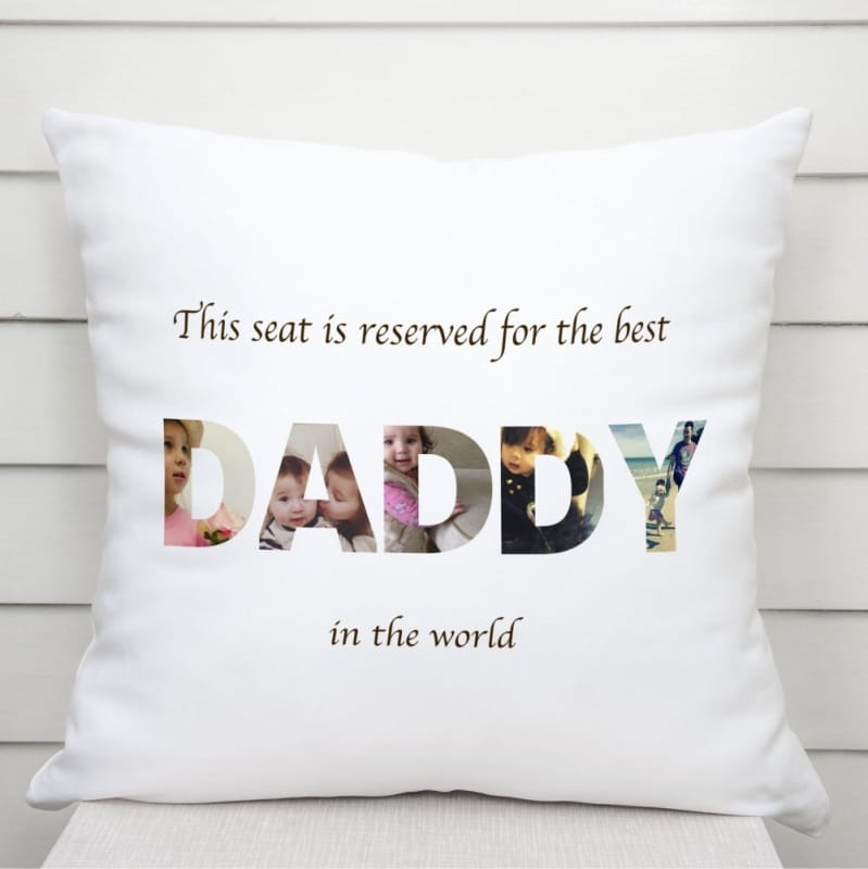 Cushion - Daddy photo letters