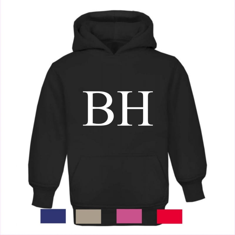 """Personalised """"large initials"""" hoodie"""