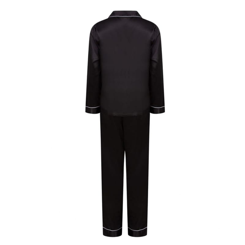 Personalised Black Luxury Pyjamas