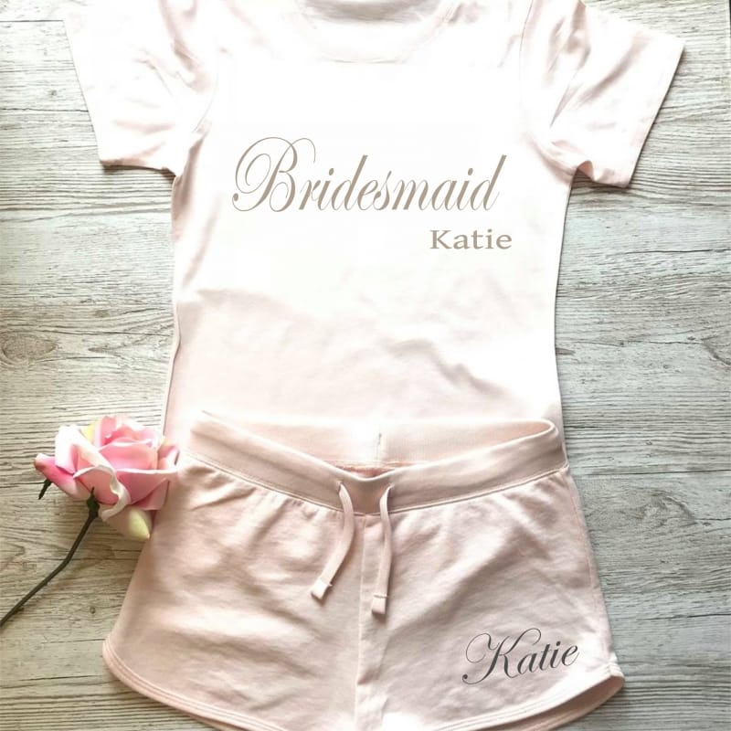 Wedding party personalised stylish lounge wear for Bridesmaids